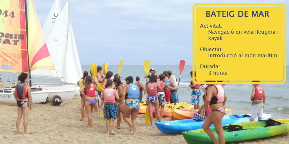 bateig de mar per a grups