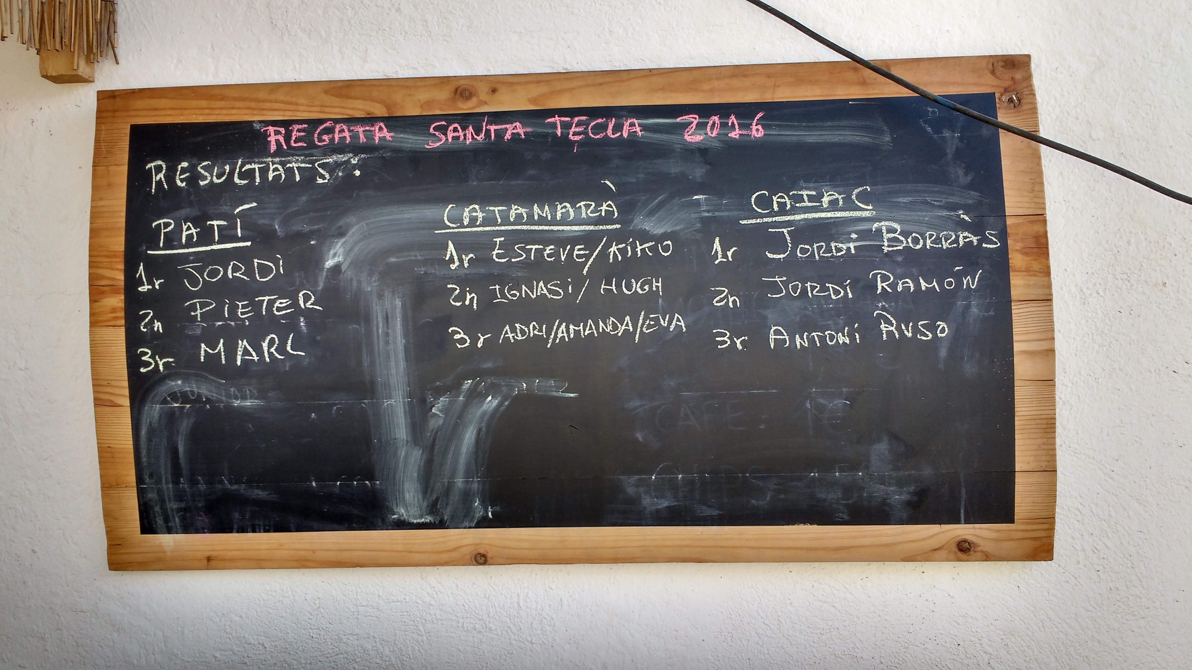 resultats regata santa tecla 2016